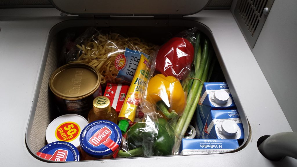 Bulli Bordproviant haltbare Lebensmittel