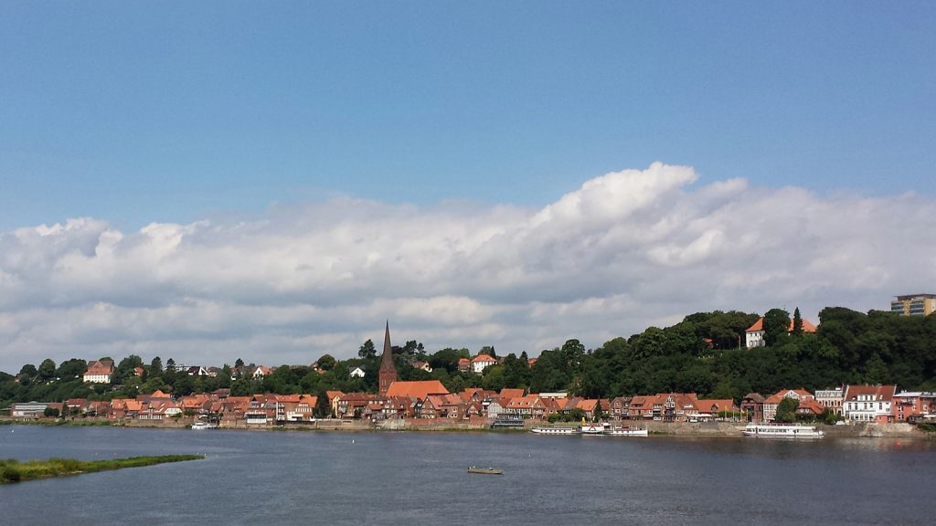 Lauenburg (Elbe), die Grenze zwischen Schleswig-Holstein und Niedersachsen