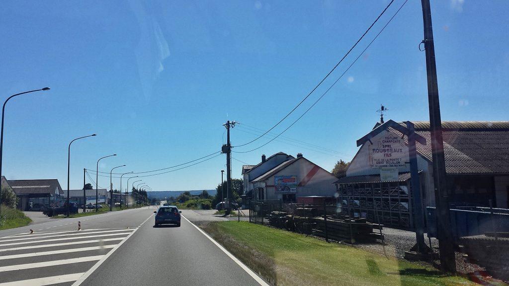 Landstraße Richtung Bouillon, Belgien