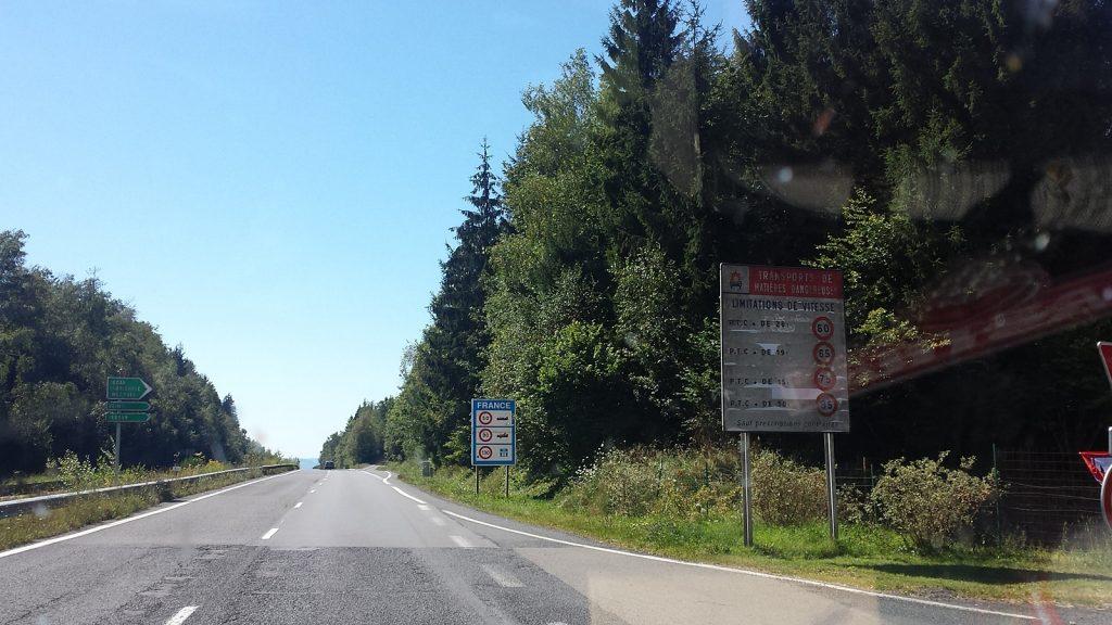 Grenze Belgien Frankreich bei Bouillon
