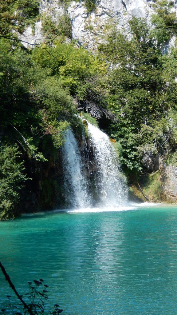Wasserfall Kroatien Plitvicer Seen je höher desto platsch