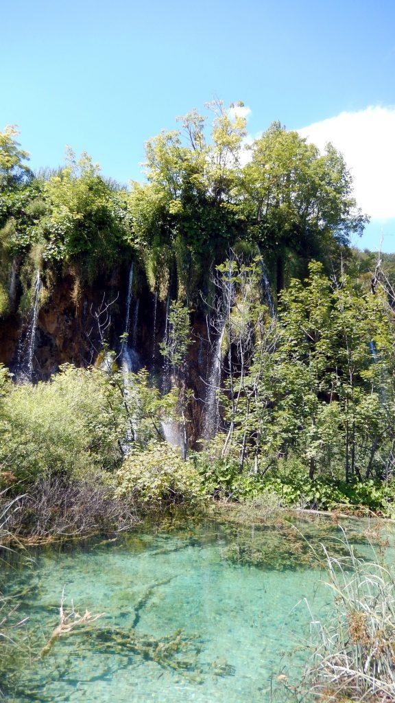 kristallklares Wasser Wasserfälle Plitvicer Seen
