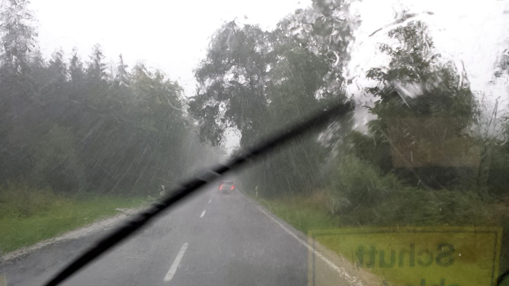 Starkregen in Bayern