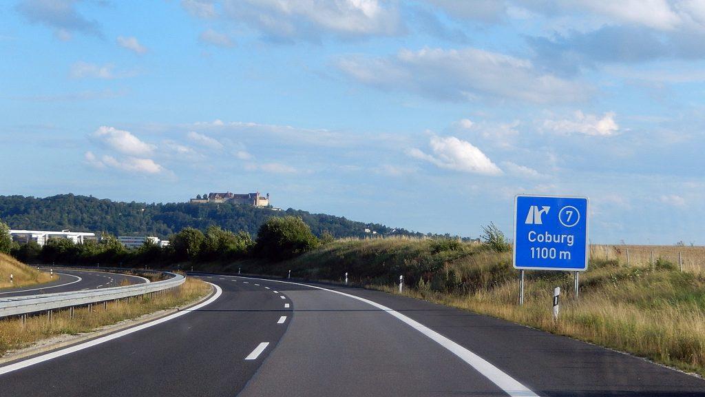 Autobahn A72 bei Coburg