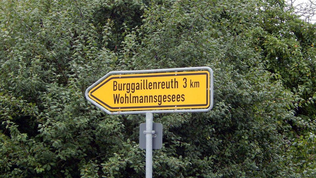 Burggaillenreuth Wohlmannsgesees