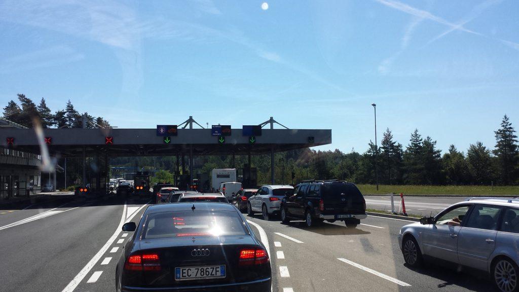Grenze Slowenien Kroatien bei Starod