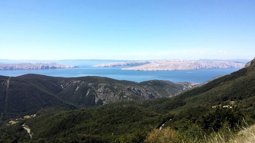 Blick auf die Adria vom Vratnik Pass