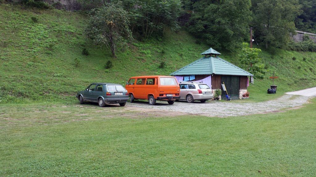 WV T3 Bulli in Bosnien Autocamp Drina Foca
