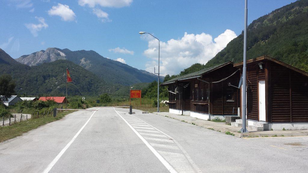 Grenze Montenegro Albanien bei Gusinje