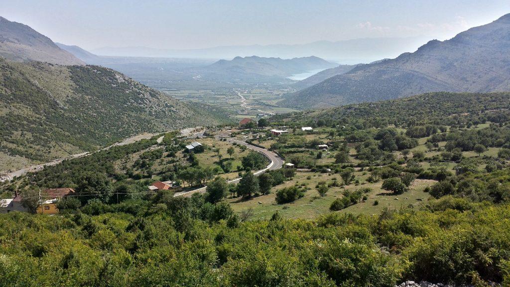 Blick vom Leqet e Hotit auf den Skutarisee