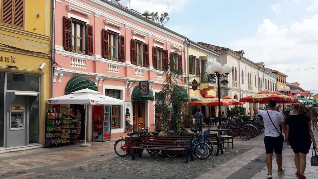 Renovierte Altstadt in Shkoder Shkodra Albanien
