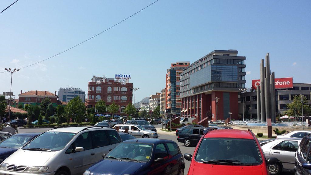 Zentraler Platz Librari Shkoder Albanien