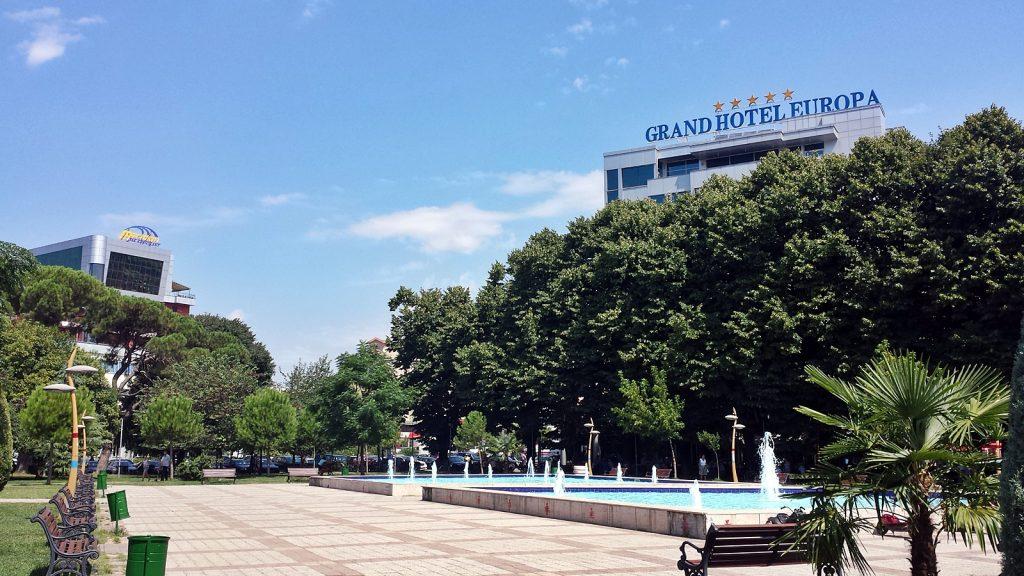 Springbrunnen Park Grand Hotel Europa Shkodra Shkoder Albanien