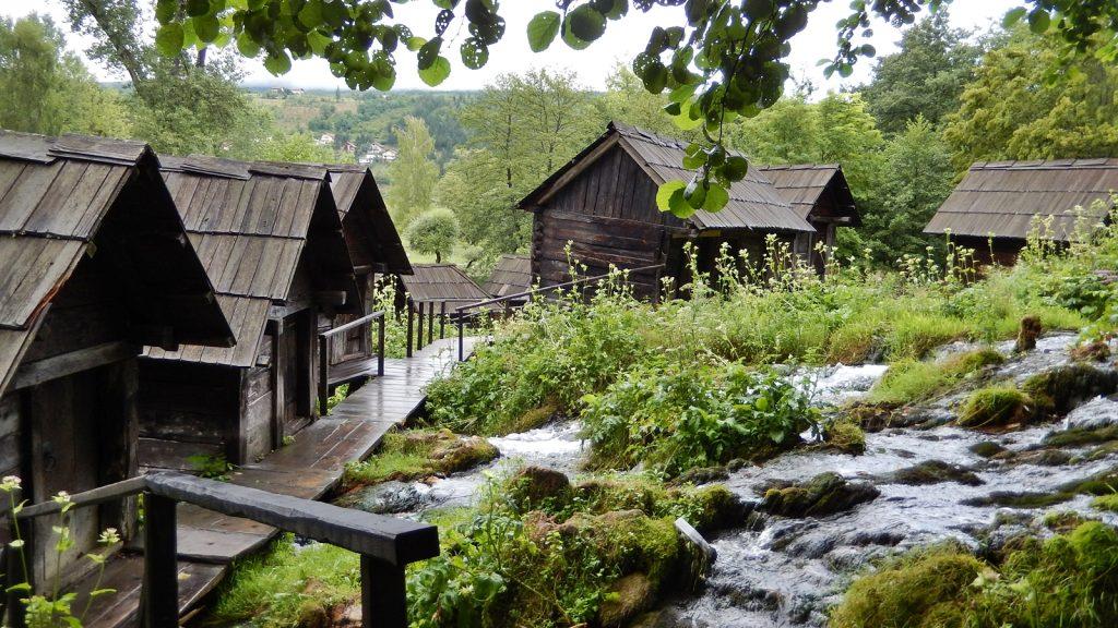 historische Wassermühlen in Jajce