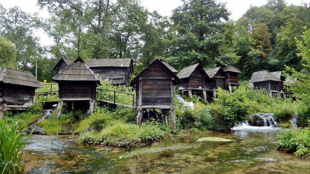 Bekanntes Motiv: Die Wassermühlen von Jajce