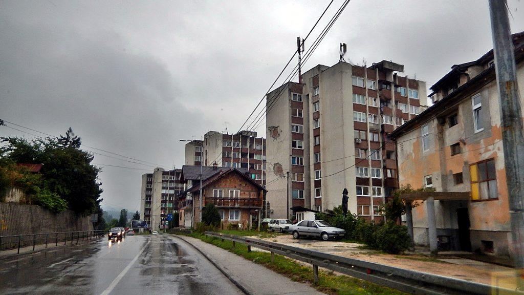 Kriegsspuren Travnik Bosnien