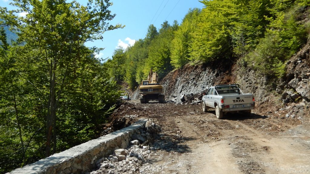 Baustelle SH20 Albanien Kelmend Vermosh Roadtrip