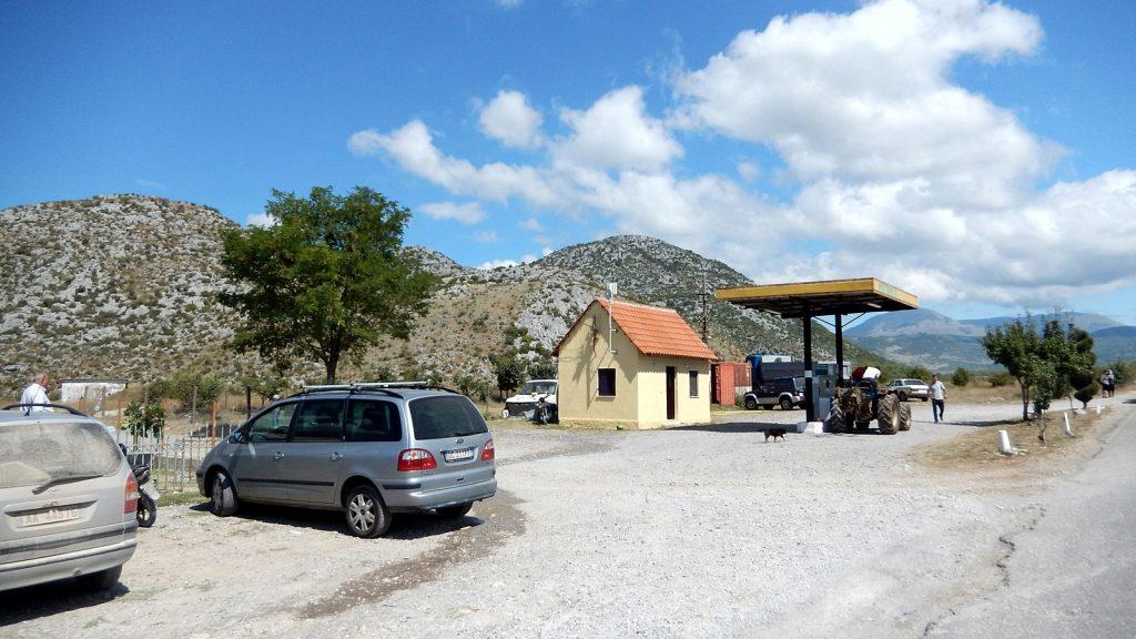 Tankstelle in Albanien