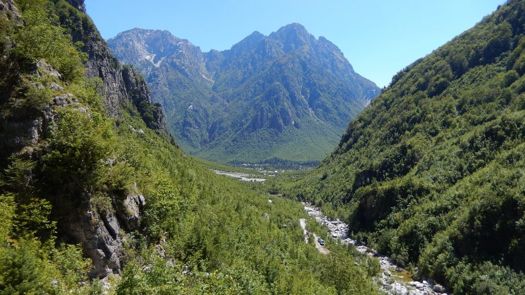 Auf dem Weg zum Syri i kalter, Nderlysaj, Theth, Albanien