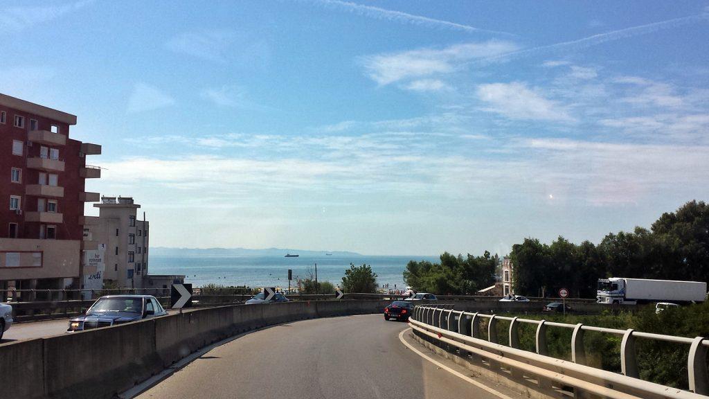 Mittelmeer in Durrës, Albania