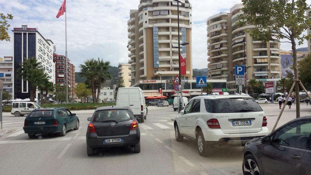 Stadtzentrum von Vlore, Albanien