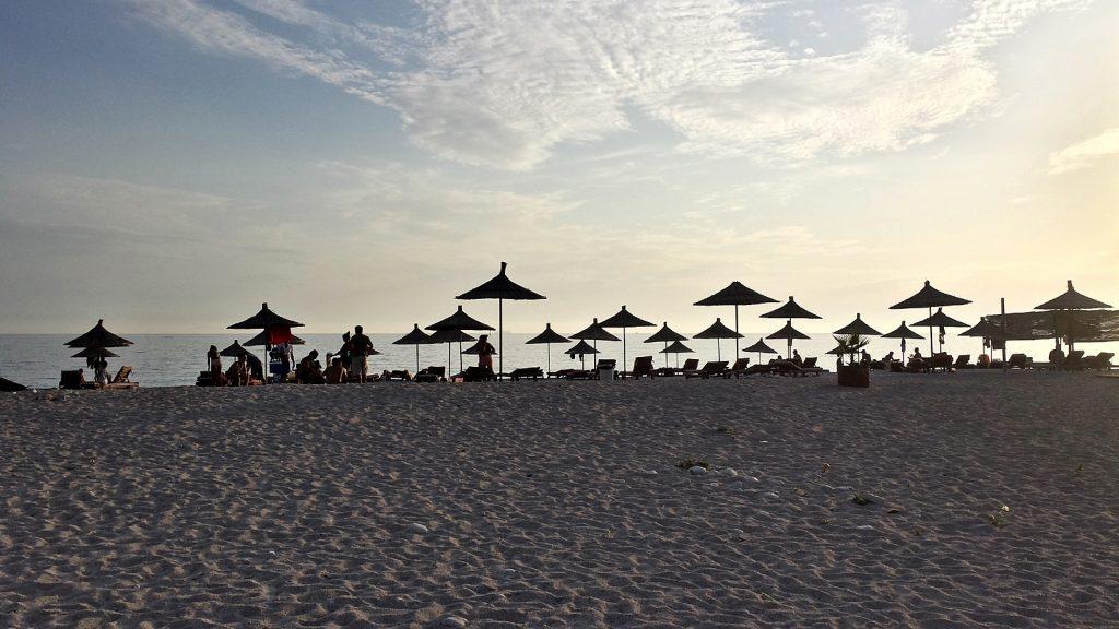 Abendstimmung in Livadh, Strand in Albanien