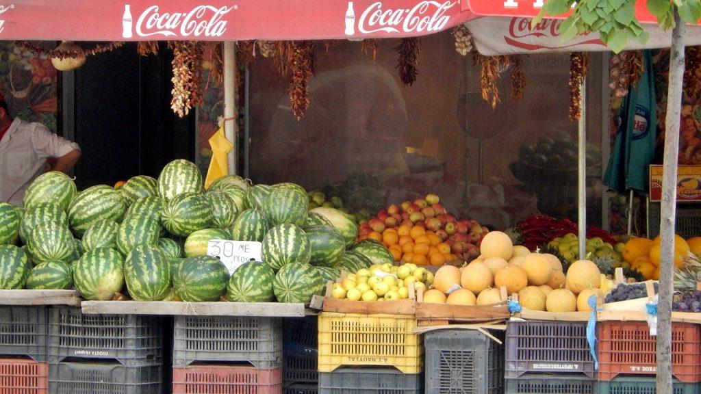 Obst und Gemüse Tirana Albanien