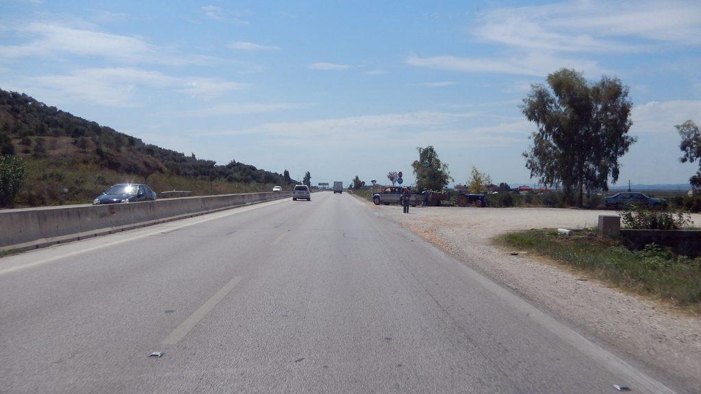 Autobahn in Albanien