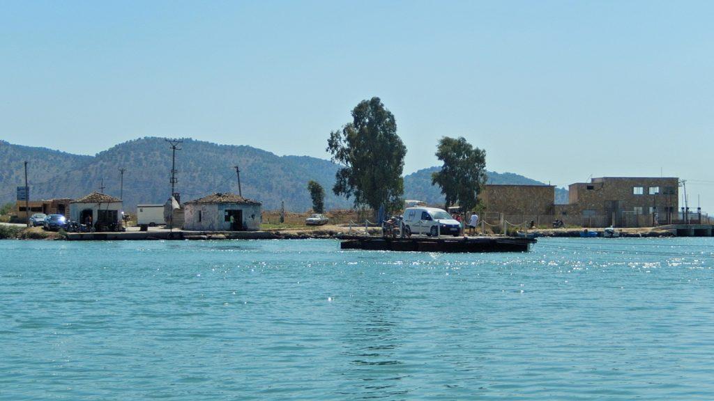 Seilfähre über den Vivar-Kanal, Butrint, Albanien