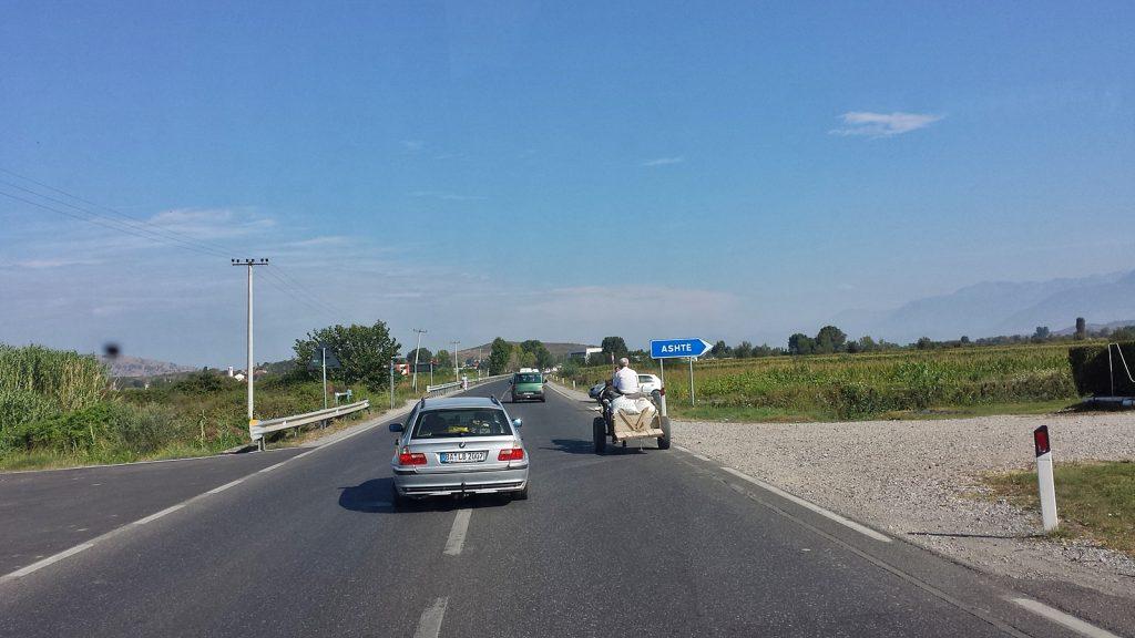 Straße nach Shkodra