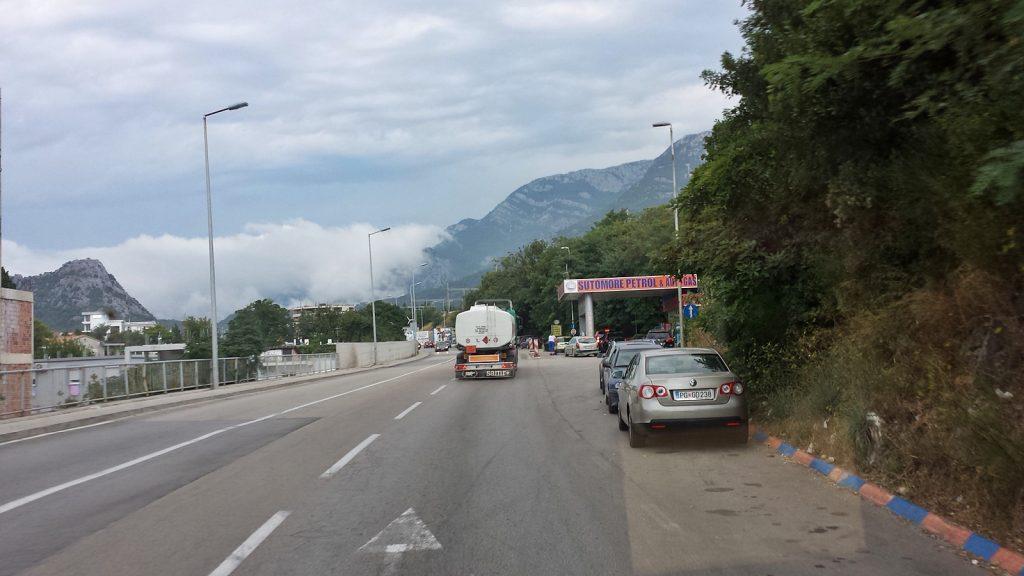 Schlechtes Wetter über Montenegro