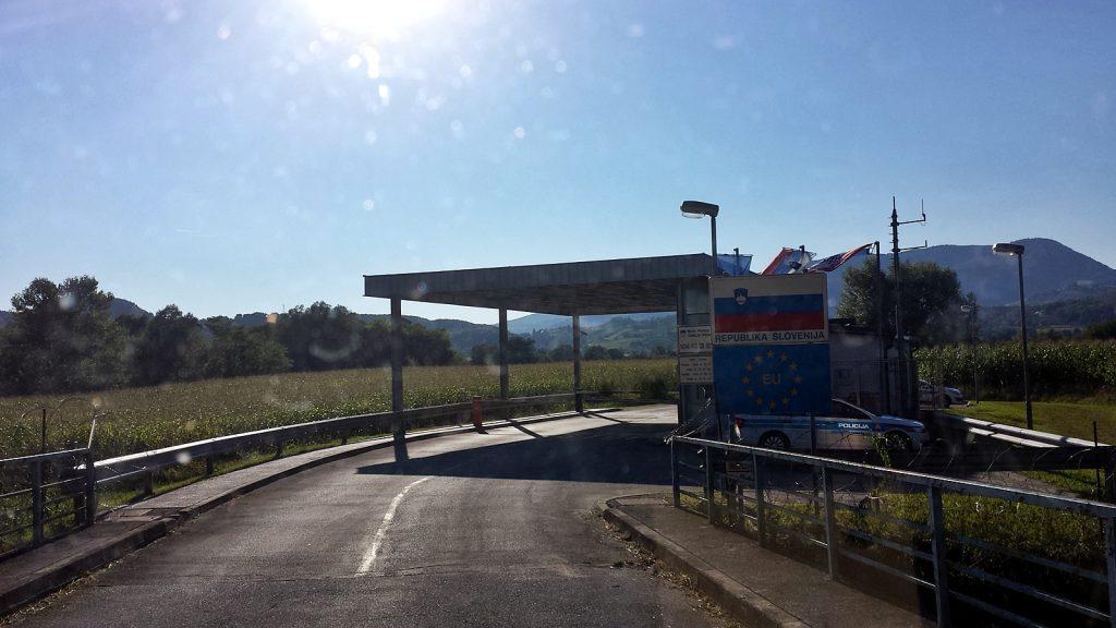 Grenze Kroatien - Slowenien bei Bizeljsko