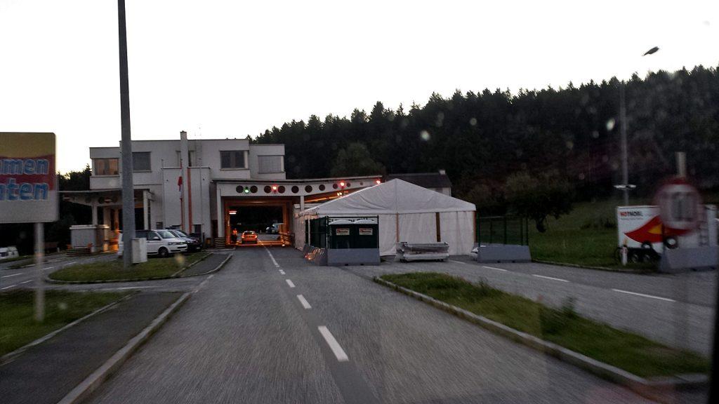 Slowenisch-Österreichische Grenze bei Bleiburg.