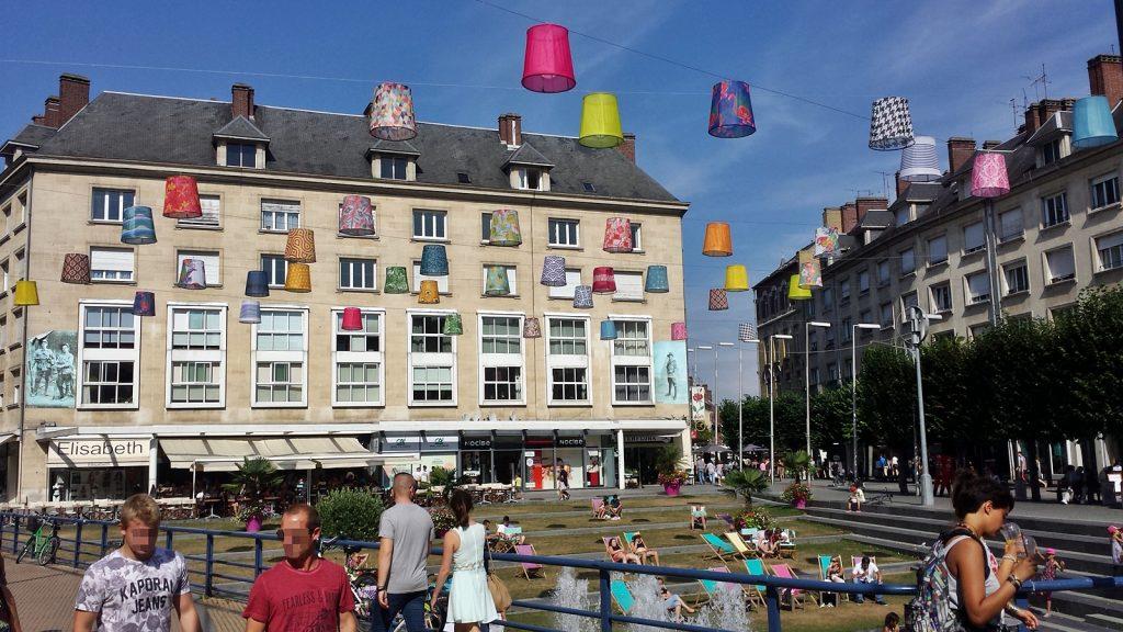 Innenstadt von Amiens, Frankreich