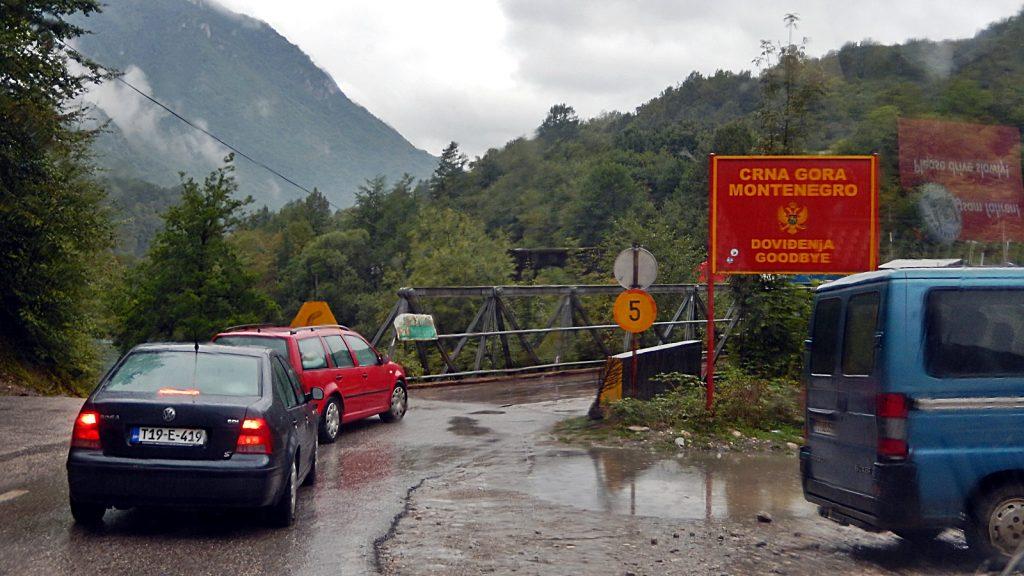 Grenzbrücke Montenegro - Bosnien