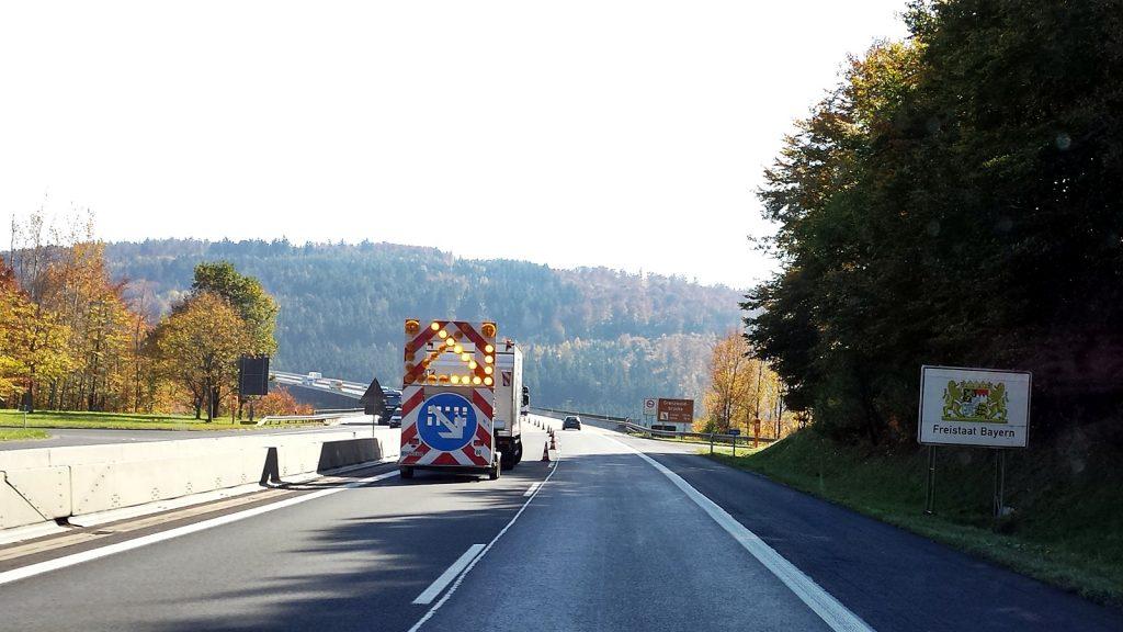 Grenzbrücke Hessen Bayern Autobahn A7