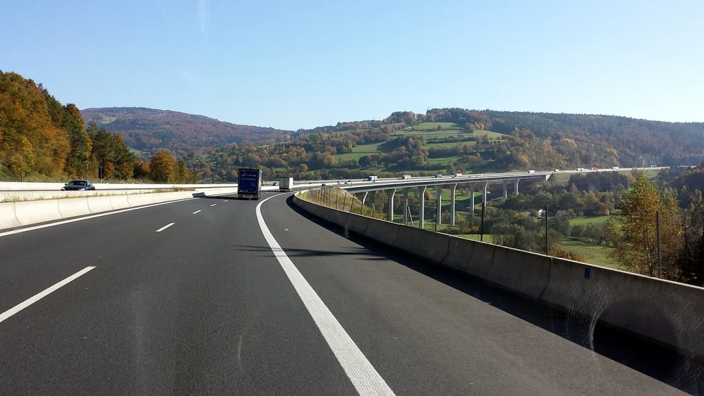 Autobahn Brücke A7 Bayern