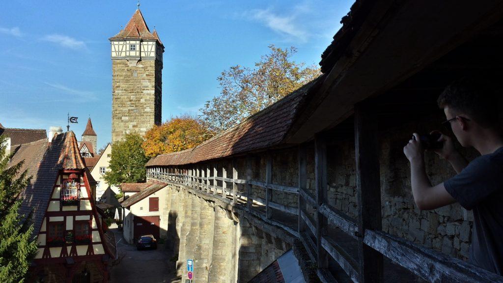 Röderturm bzw. Rödertor und Stadtmauer Rothenburg ob der Tauber