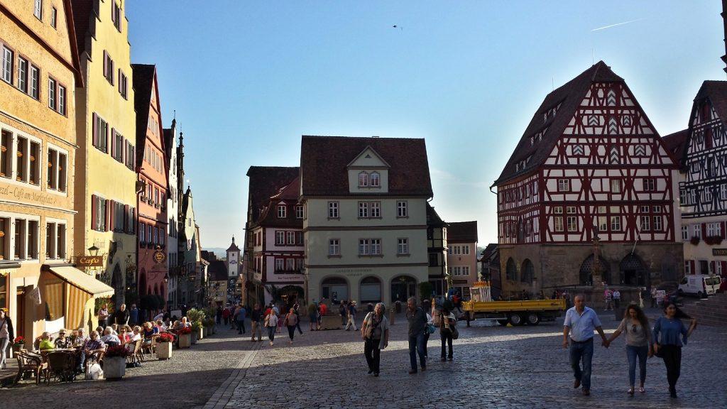 Marktplatz Blick Richtung Plönlein, Rothenburg ob der Tauber