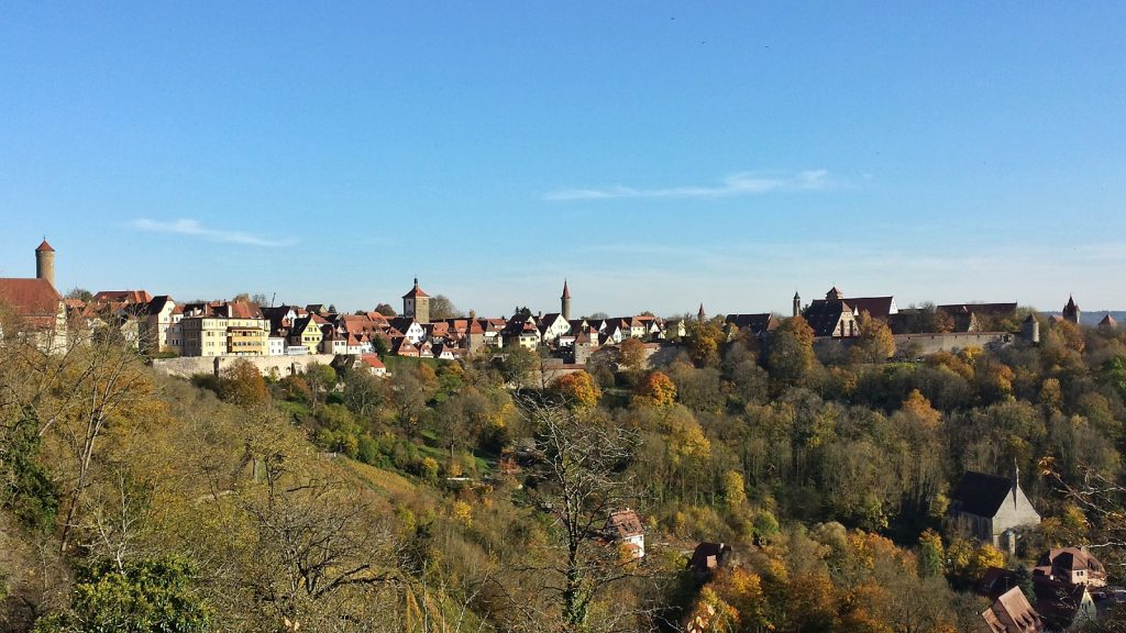 Skyline Panorama Rothenburg ob der Tauber