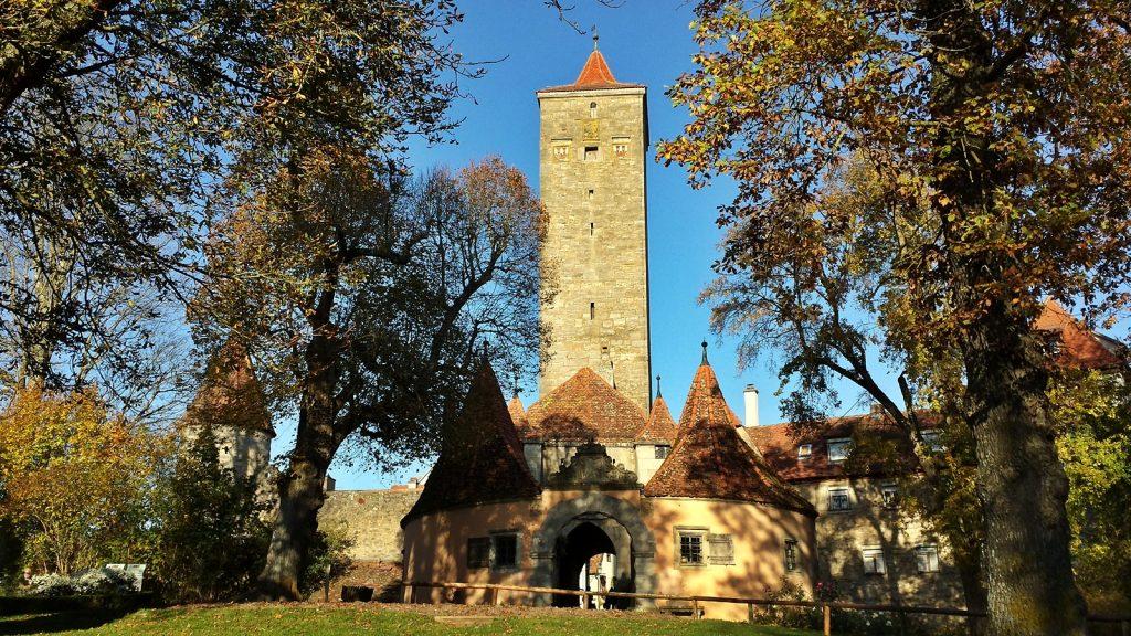 Burgtor Herbst Rothenburg ob der Tauber