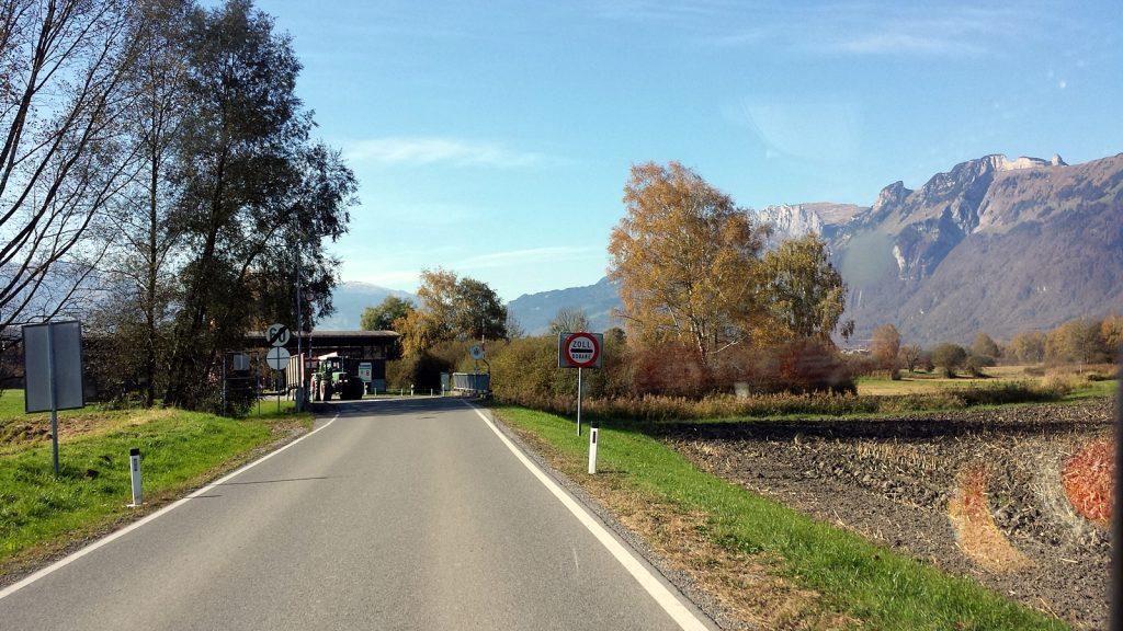 Grenze Österreich Liechtenstein