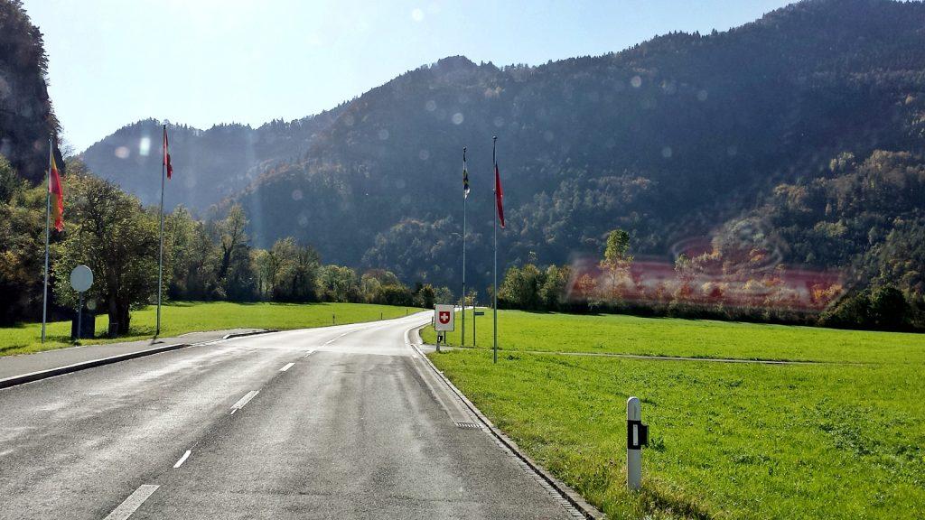 Grenze Liechtenstein Schweiz