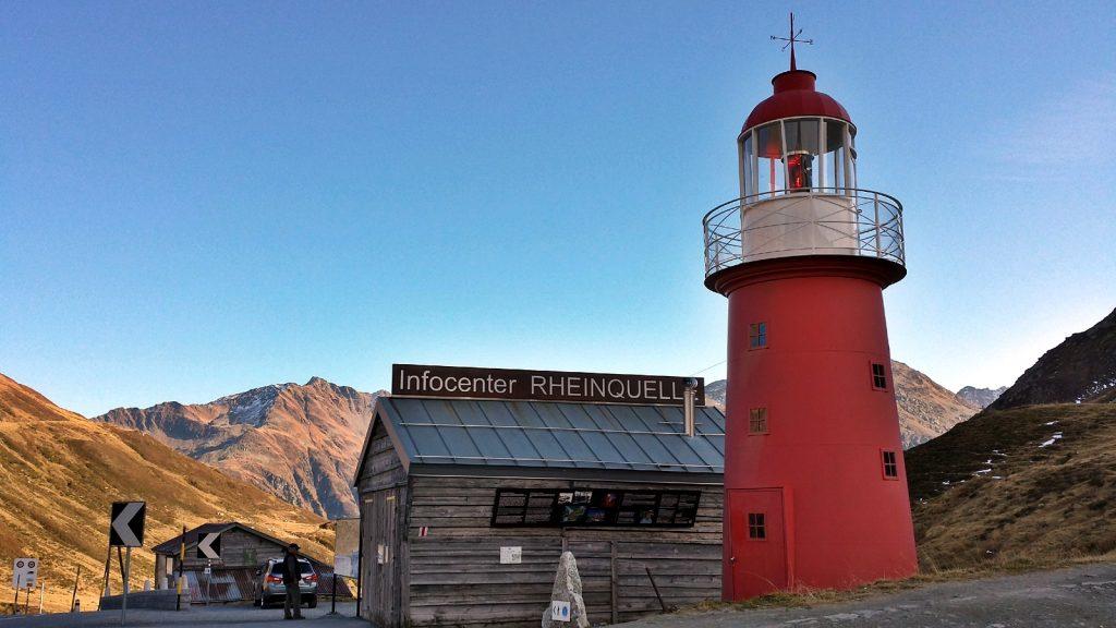 Leuchtturm Infocenter Rheinquelle, Oberalppass