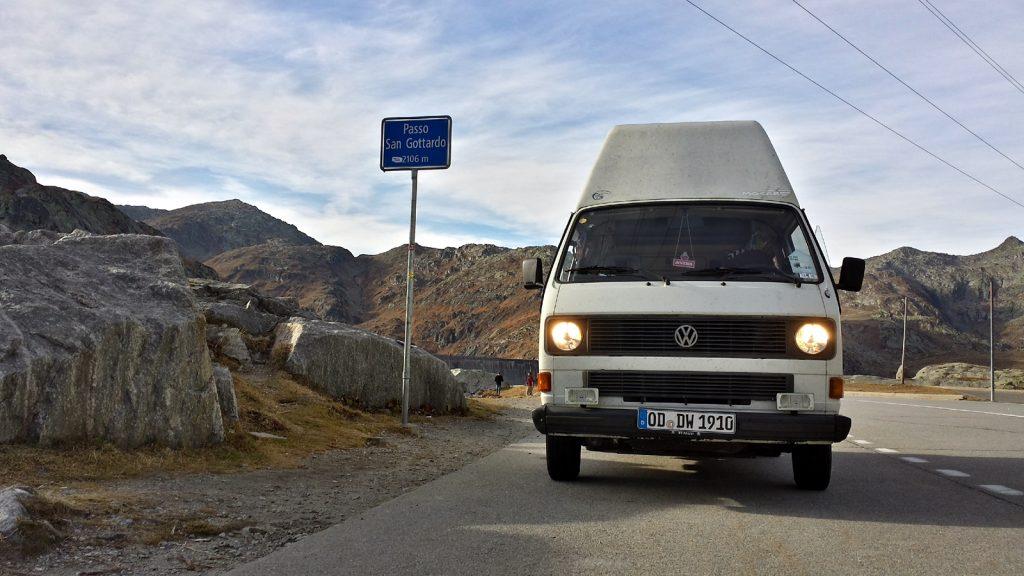 Bulli Gotthard-Pass, Passo San Gottardo, Passhöhe