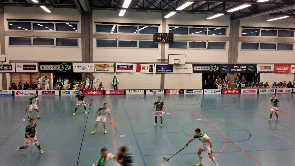 Floorball-Spiel SV Wiler-Ersingen gegen Waldkirch-St.Gallen