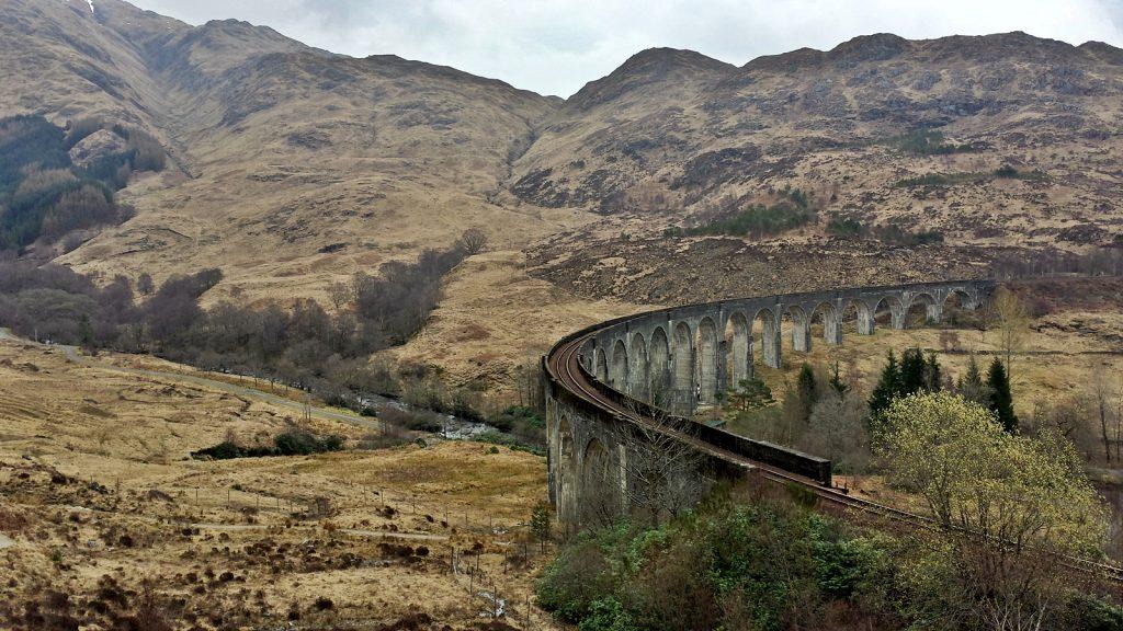 Glenfinnan Viadukt ohne Hogwarts Express