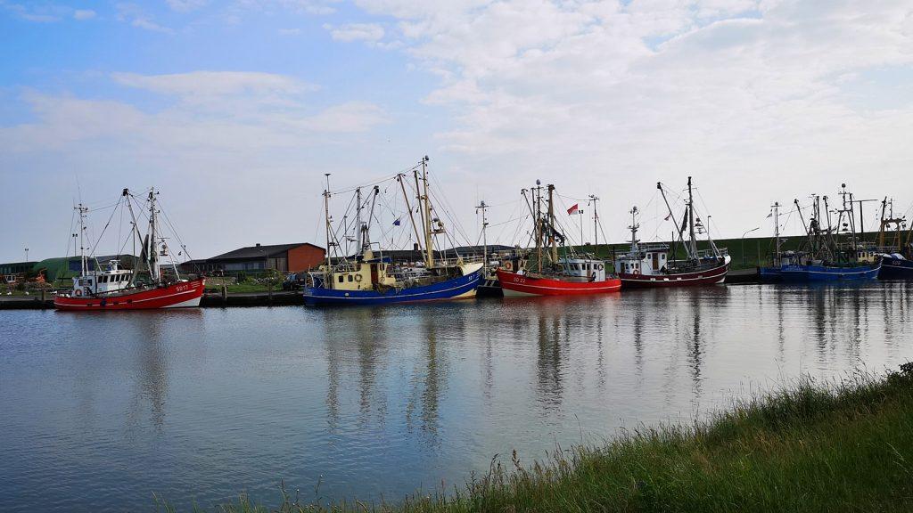 Fischerboote im Hafen von Meldorf