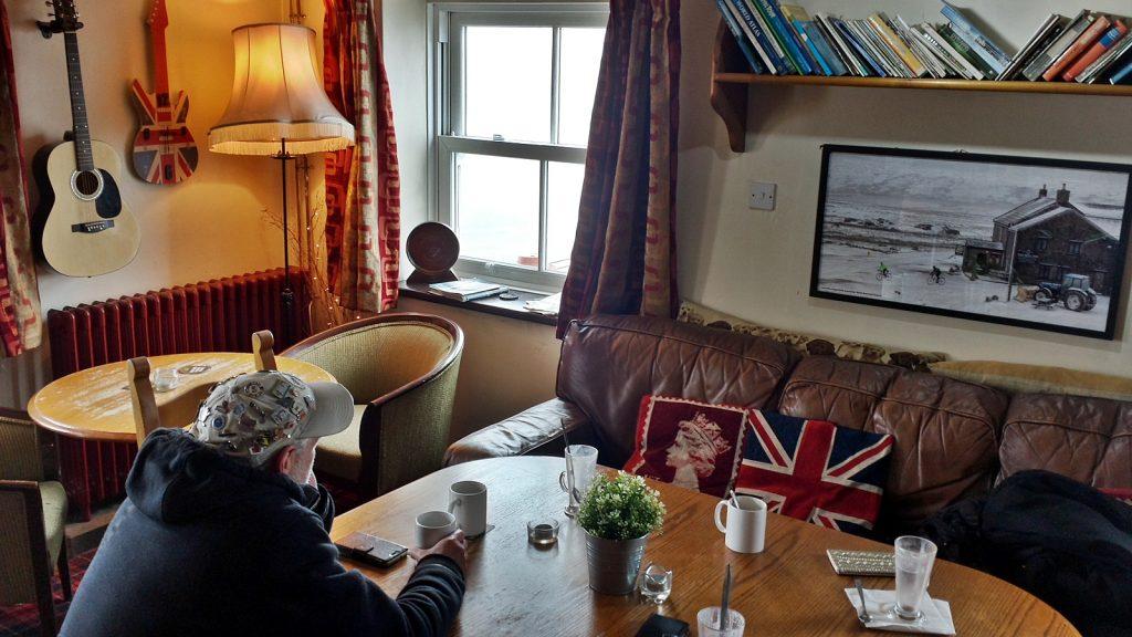 Stilechte britische Wohnzimmerdekoration, Tan Hill Inn