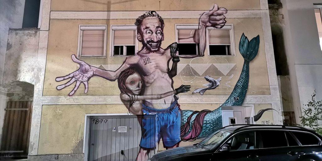 Wandmalerei in Ottensheim